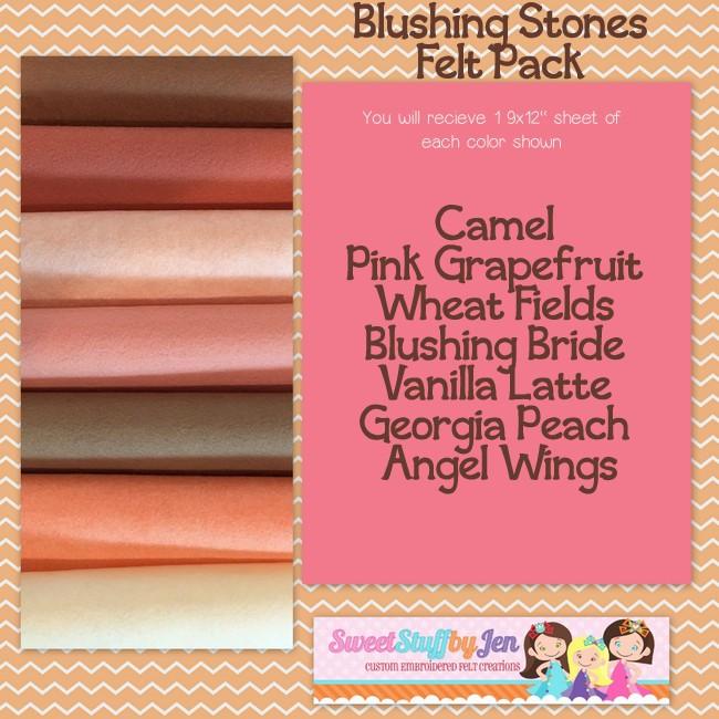 Blushing Stones Felt Pack