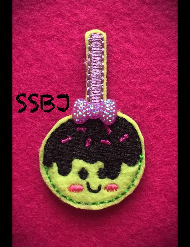 SSBJ Spooky Candy Apple Embroidery File