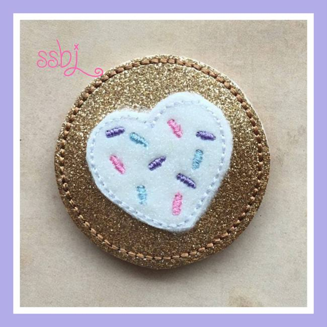 SSBJ Sprinkle Heart Cookie Embroidery File