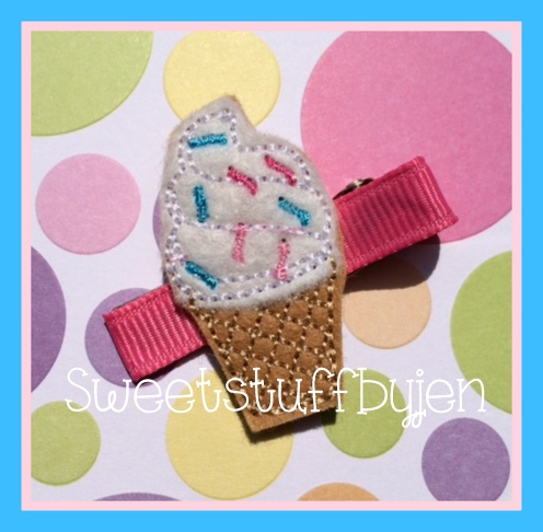 Swirly Sprinkle Cone Embroidery File