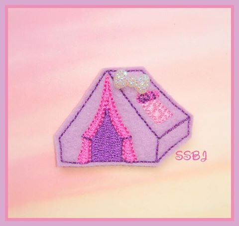 Camping Fun Tent Embroidery File