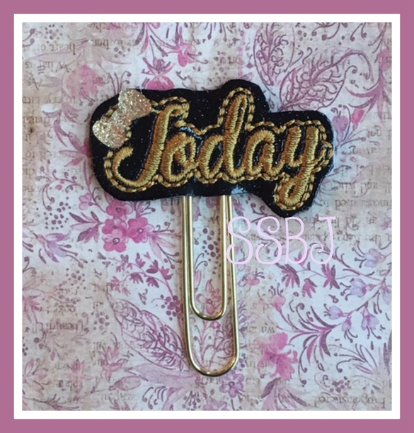SSBJ Today 3 Planner Clip Embroidery File