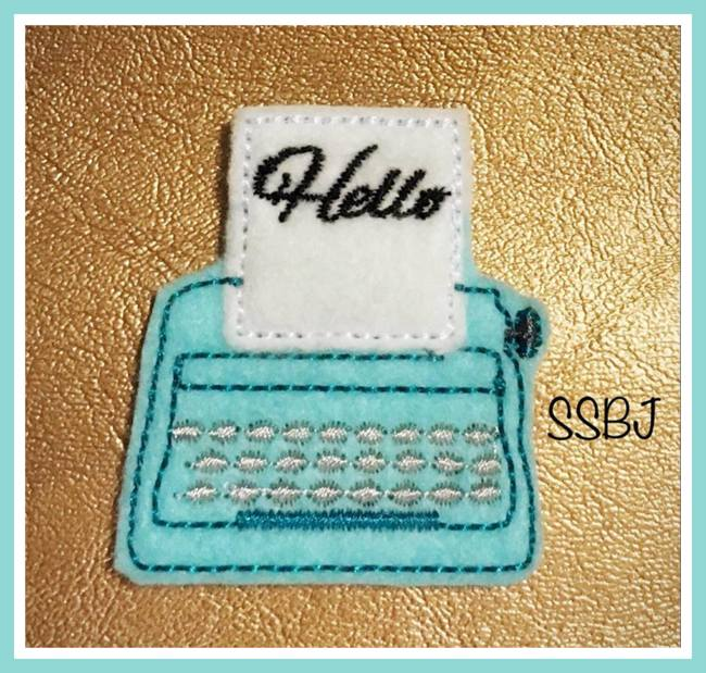 SSBJ Typewriter Embroidery File