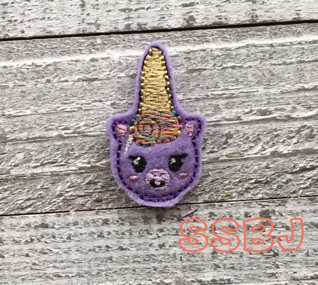 SSBJ Unicorn Nail Polish Bottle Embroidery File