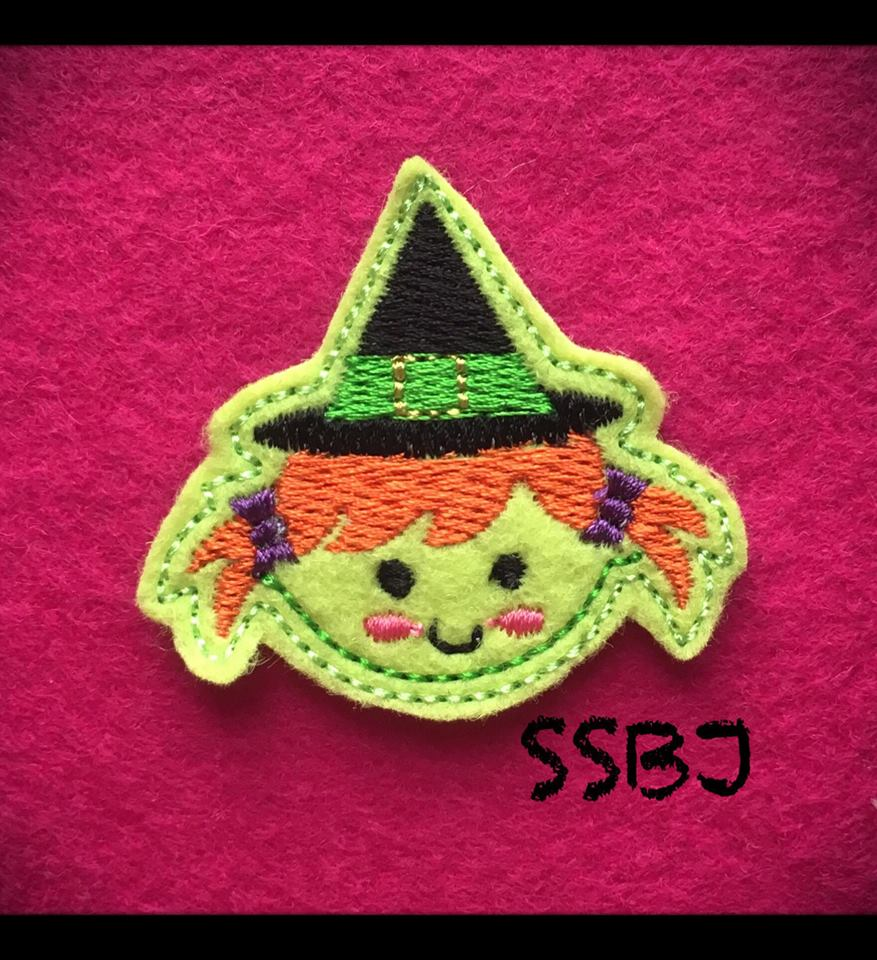 SSBJ Spooky Friends Witch Embroidery File